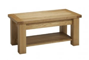 Charltons Bretagne Solid Oak Small Coffee Table With Shelf